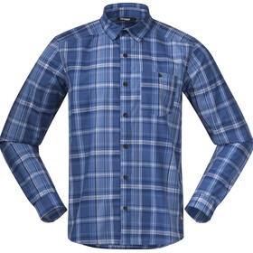 Bergans Kikut Shirt Men riviera blue check